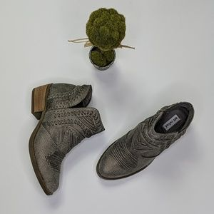 Not Rated Nosara whipstitch booties in grey